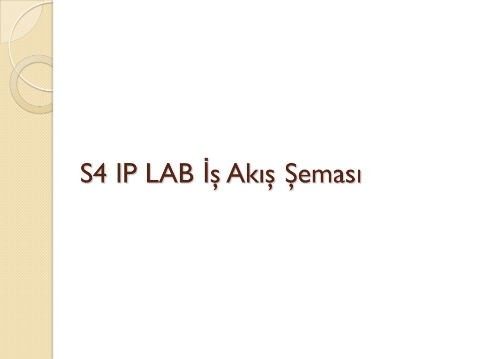 S4 IP LAB İş Akış Şeması