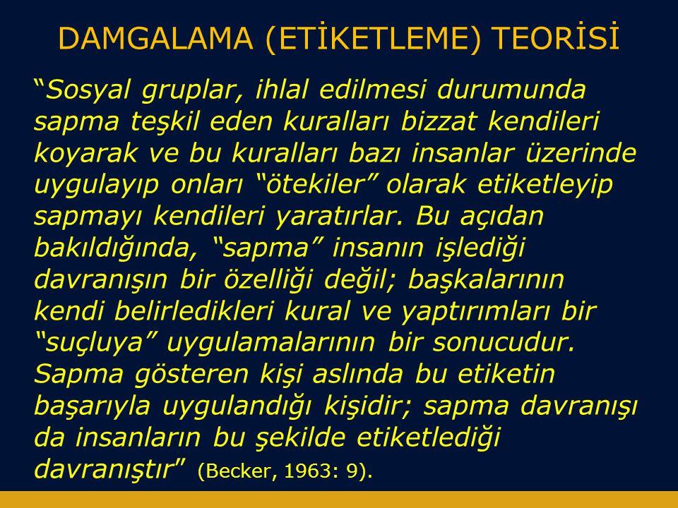DAMGALAMA (ETİKETLEME) TEORİSİ