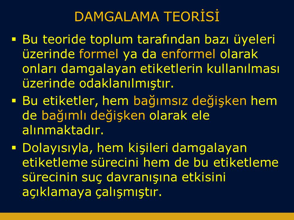 DAMGALAMA TEORİSİ