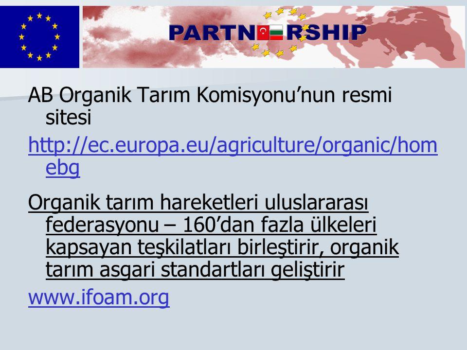 AB Organik Tarım Komisyonu'nun resmi sitesi