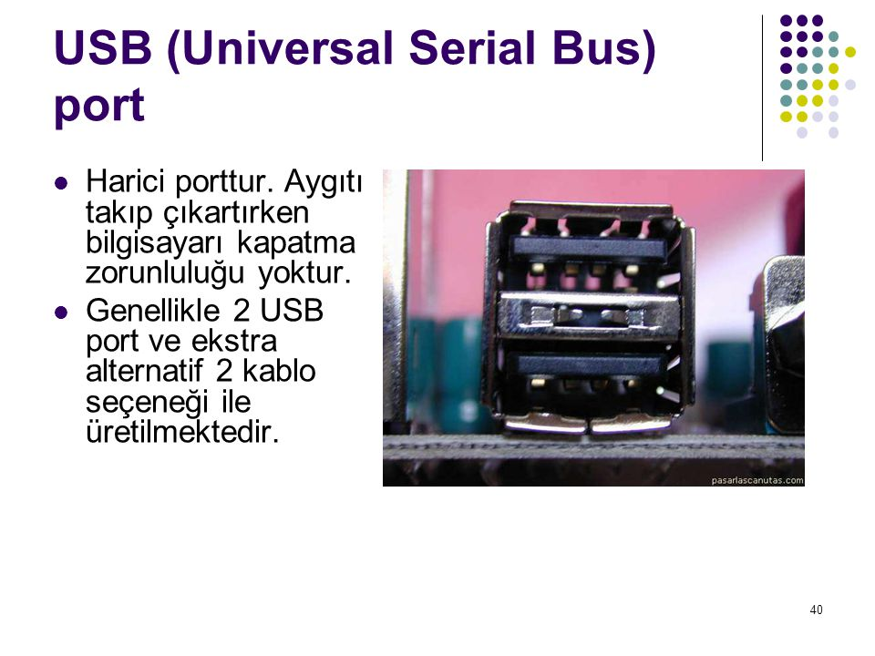 USB (Universal Serial Bus) port