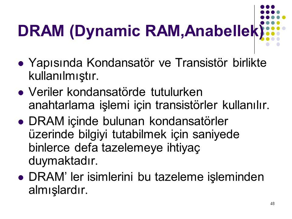 DRAM (Dynamic RAM,Anabellek)