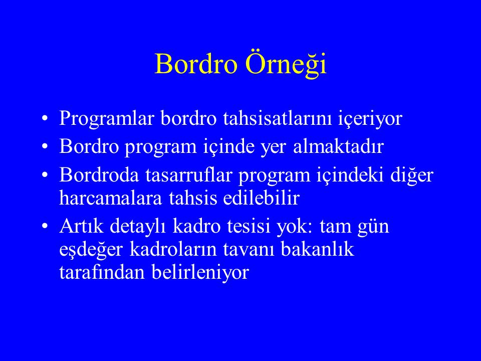 Bordro Örneği Programlar bordro tahsisatlarını içeriyor