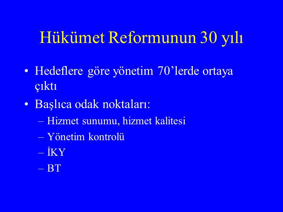 Hükümet Reformunun 30 yılı
