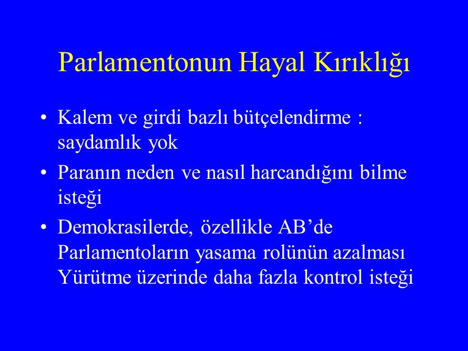 Parlamentonun Hayal Kırıklığı