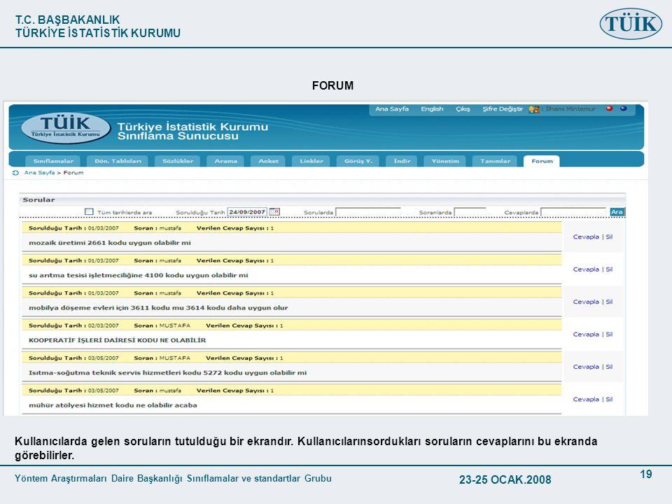 FORUM Kullanıcılarda gelen soruların tutulduğu bir ekrandır. Kullanıcılarınsordukları soruların cevaplarını bu ekranda görebilirler.