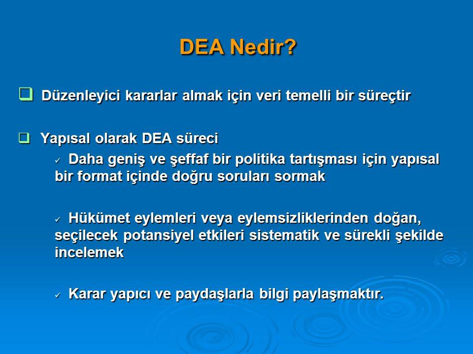 DEA Nedir Düzenleyici kararlar almak için veri temelli bir süreçtir