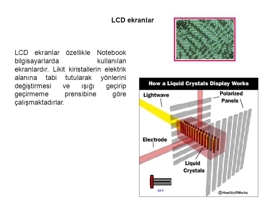 LCD ekranlar