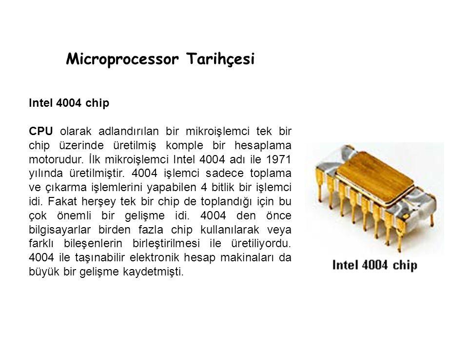 Microprocessor Tarihçesi