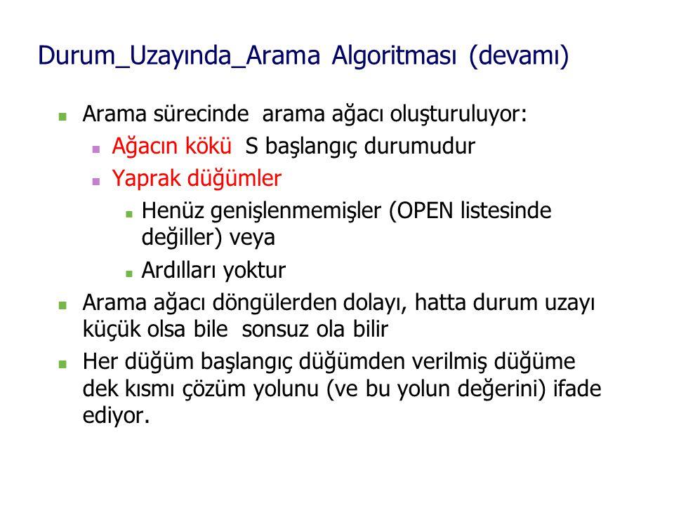 Durum_Uzayında_Arama Algoritması (devamı)
