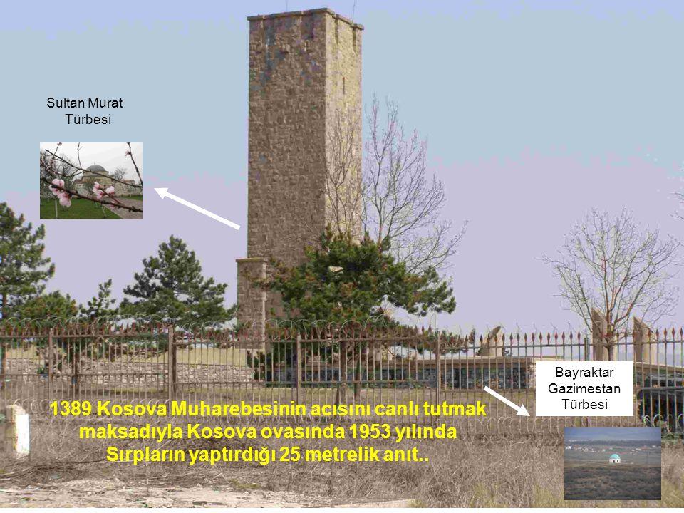 Sırpların yaptırdığı 25 metrelik anıt..