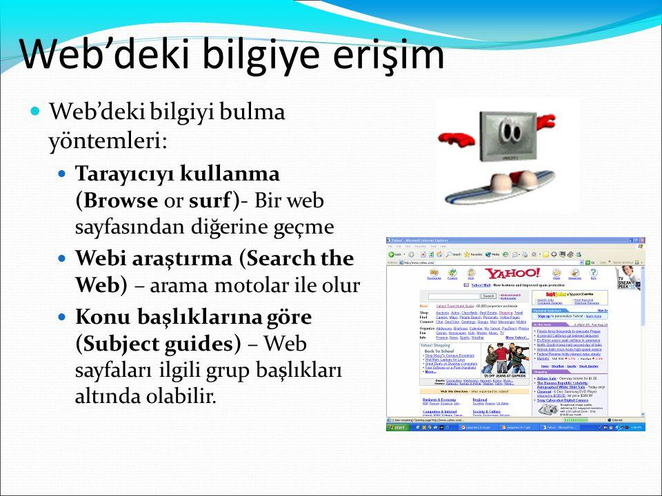 Web'deki bilgiye erişim