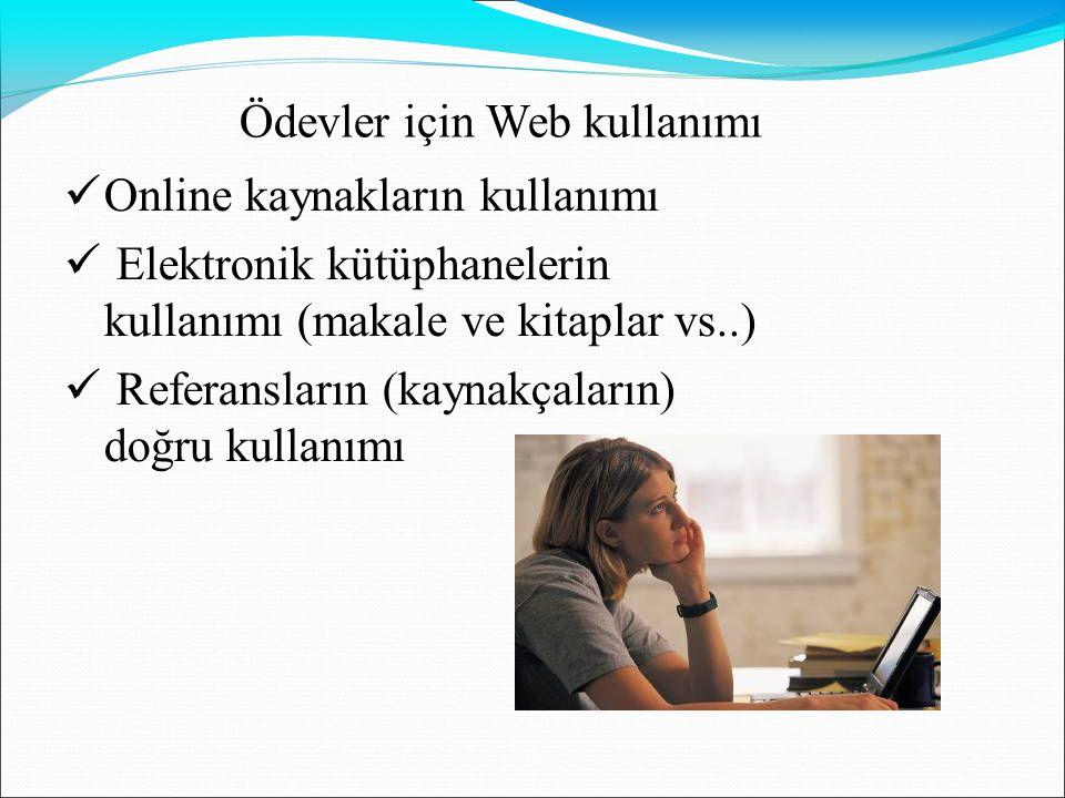 Ödevler için Web kullanımı