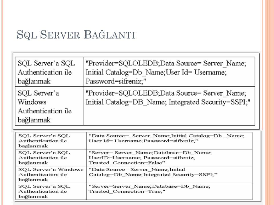 Sql Server Bağlanti