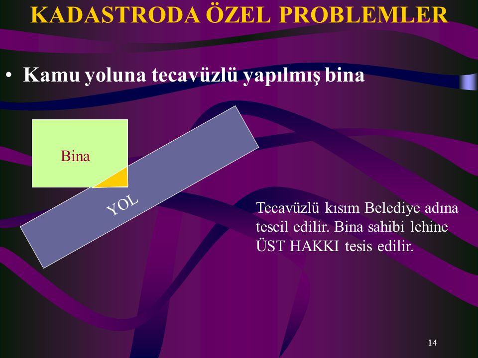 KADASTRODA ÖZEL PROBLEMLER