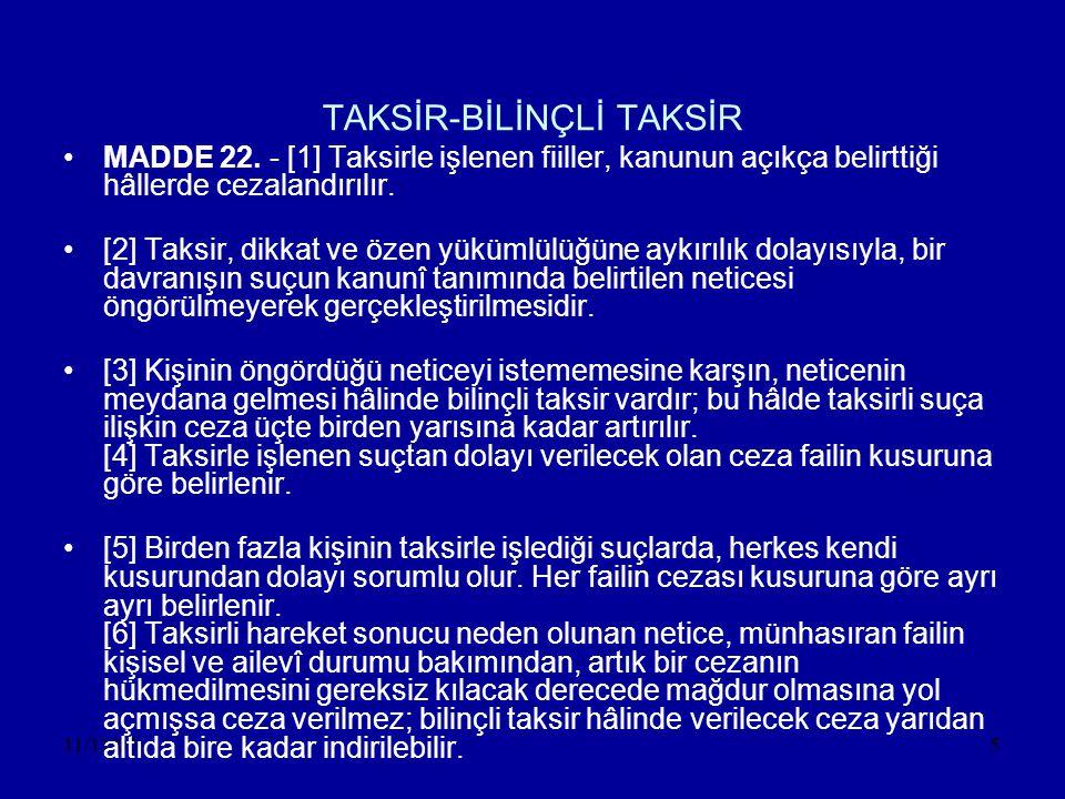 TAKSİR-BİLİNÇLİ TAKSİR