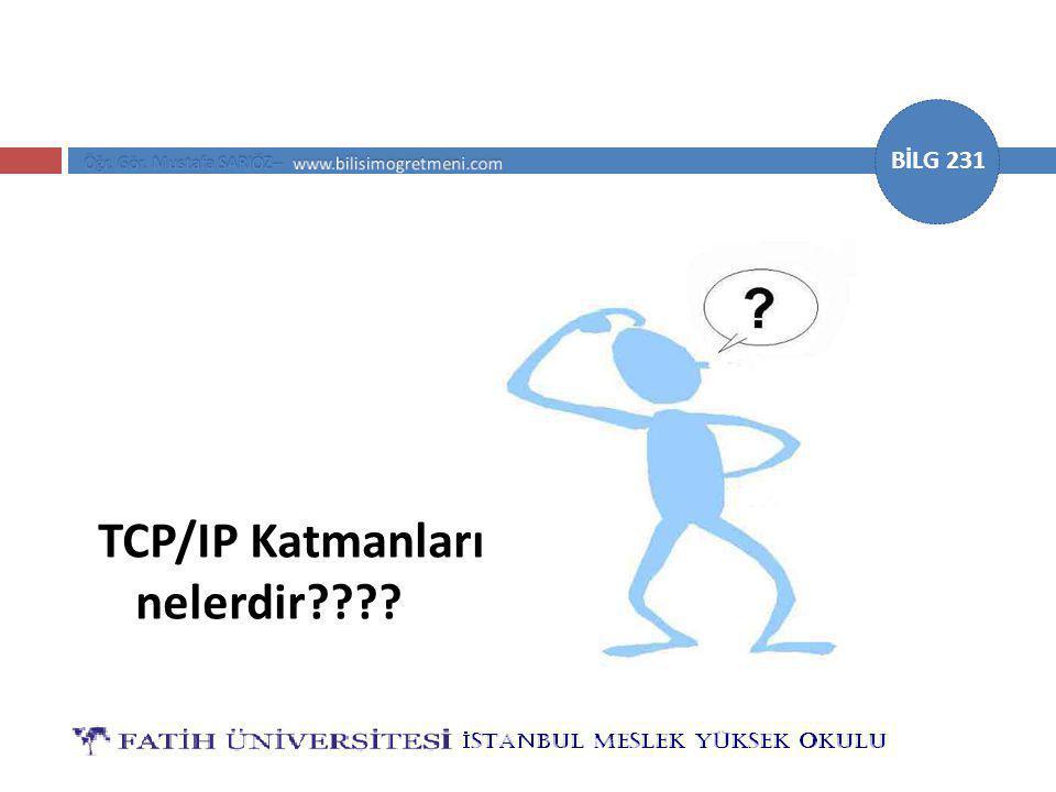 TCP/IP Katmanları nelerdir