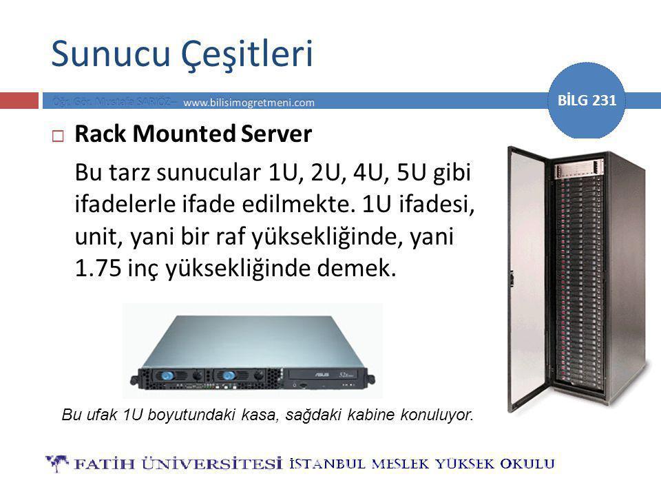 Sunucu Çeşitleri Rack Mounted Server