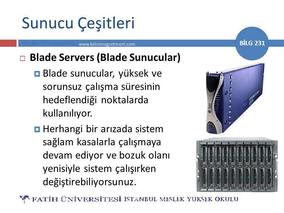 Sunucu Çeşitleri Blade Servers (Blade Sunucular)