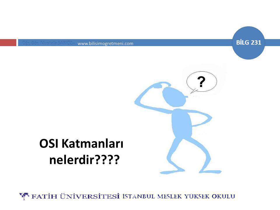 OSI Katmanları nelerdir