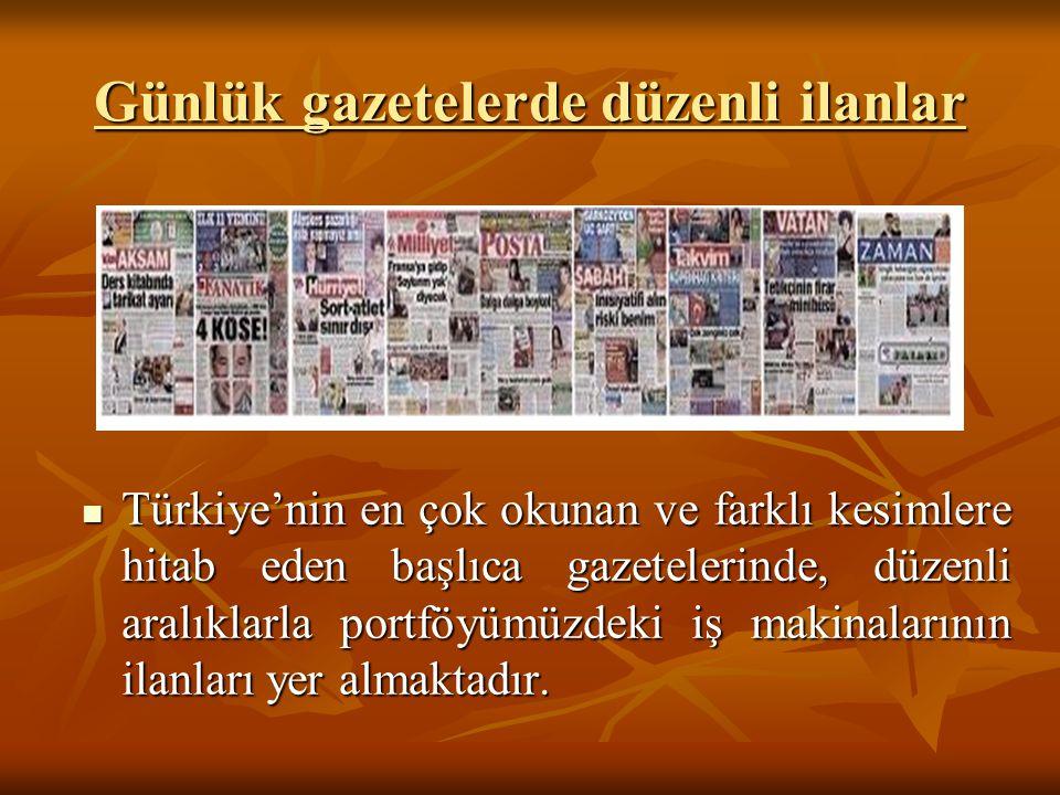 Günlük gazetelerde düzenli ilanlar