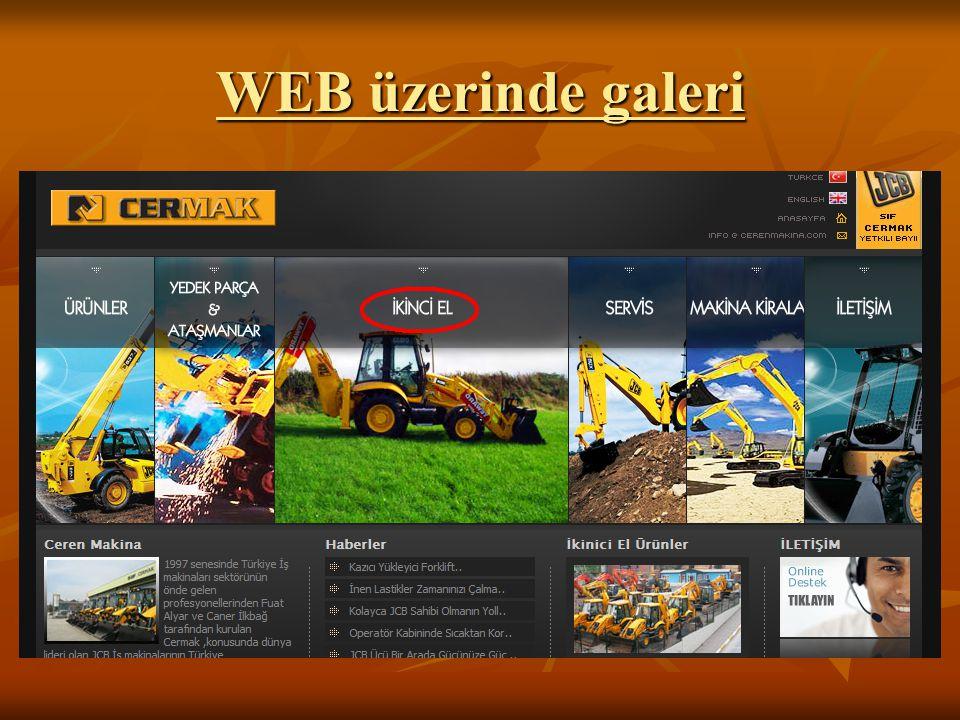 WEB üzerinde galeri