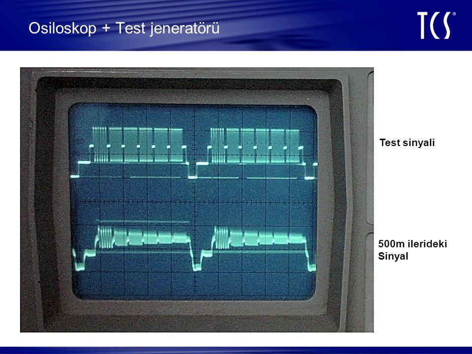 Osiloskop + Test jeneratörü