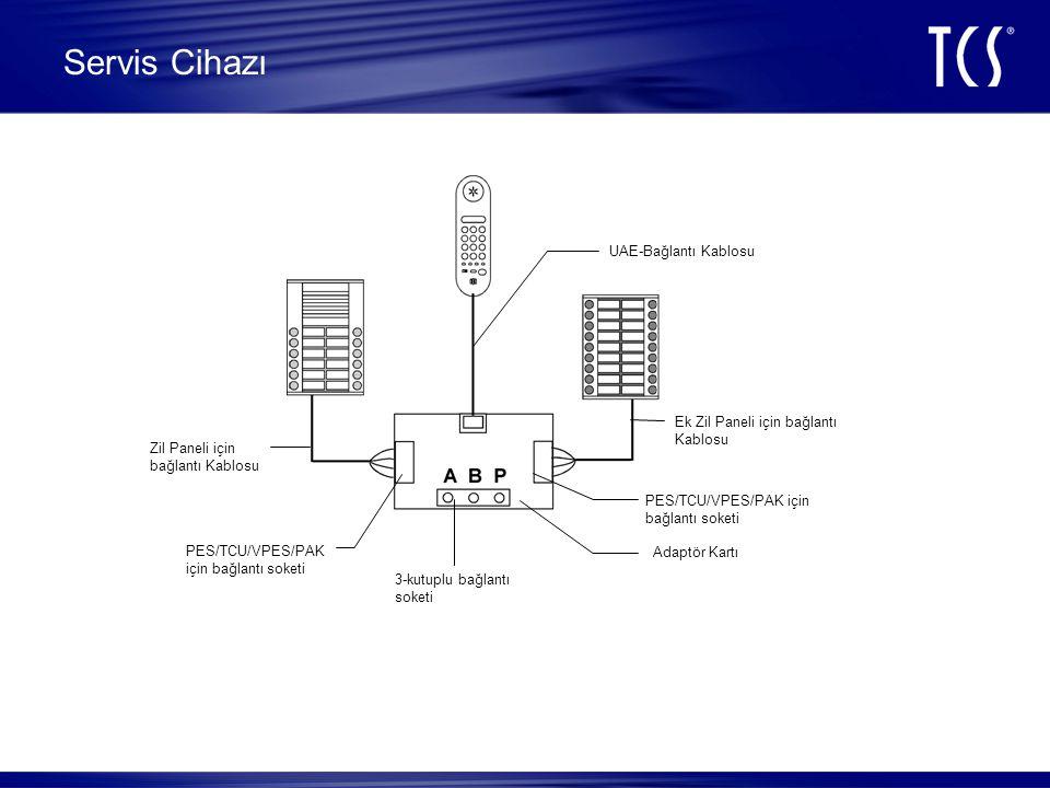 Servis Cihazı UAE-Bağlantı Kablosu Ek Zil Paneli için bağlantı Kablosu