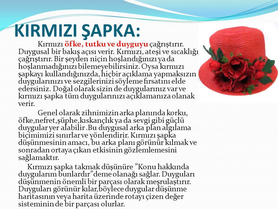 KIRMIZI ŞAPKA: