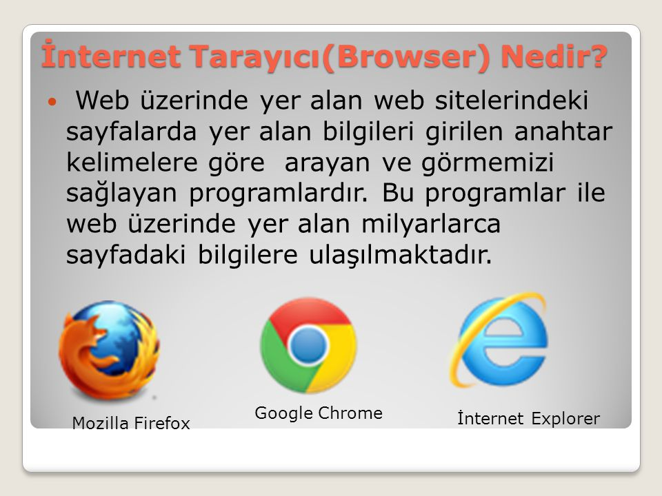 İnternet Tarayıcı(Browser) Nedir