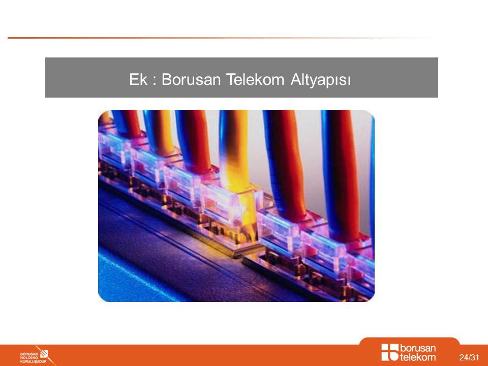 Ek : Borusan Telekom Altyapısı