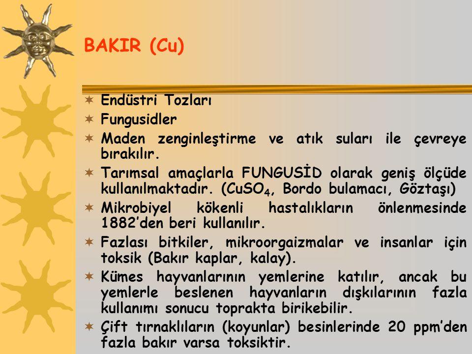 BAKIR (Cu) Endüstri Tozları Fungusidler