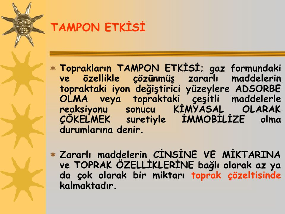 TAMPON ETKİSİ