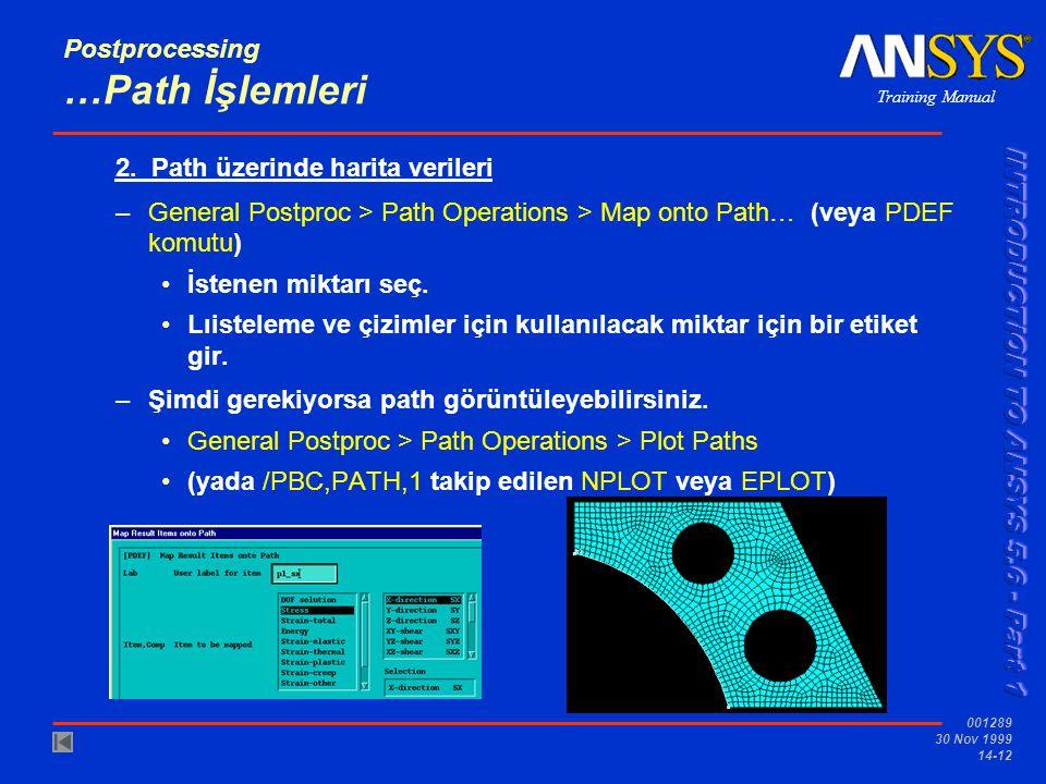 Postprocessing …Path İşlemleri