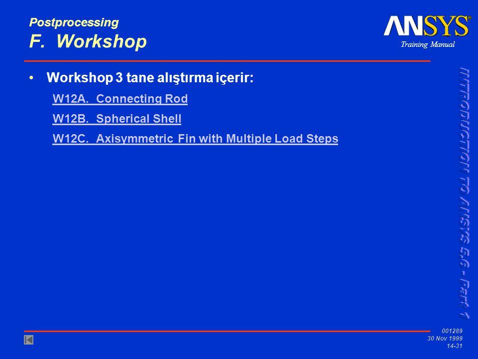 Postprocessing F. Workshop
