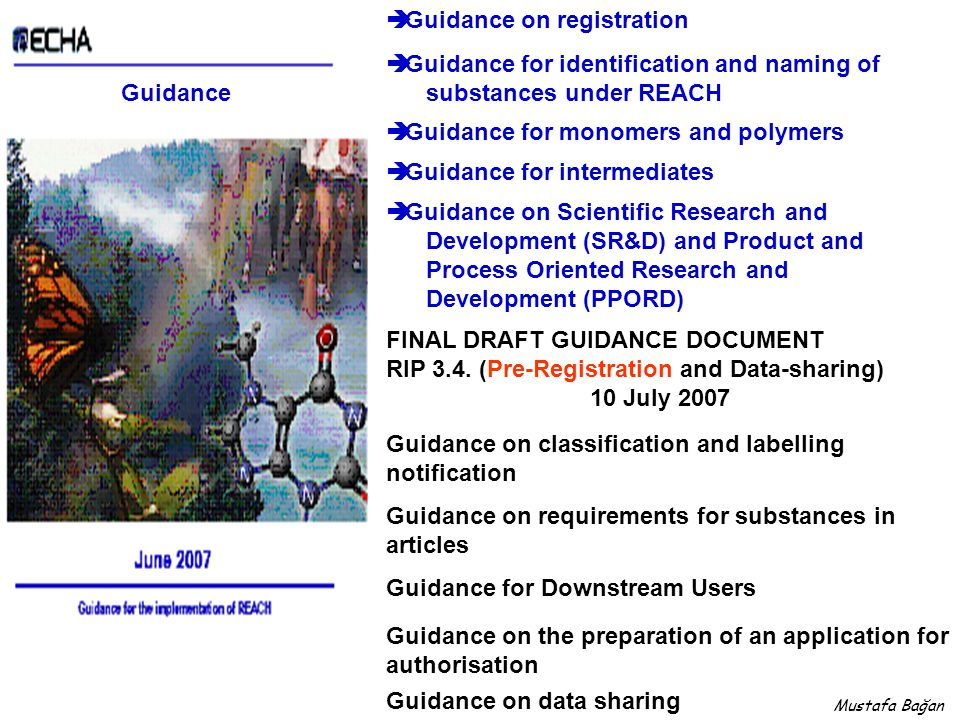 Guidance on registration