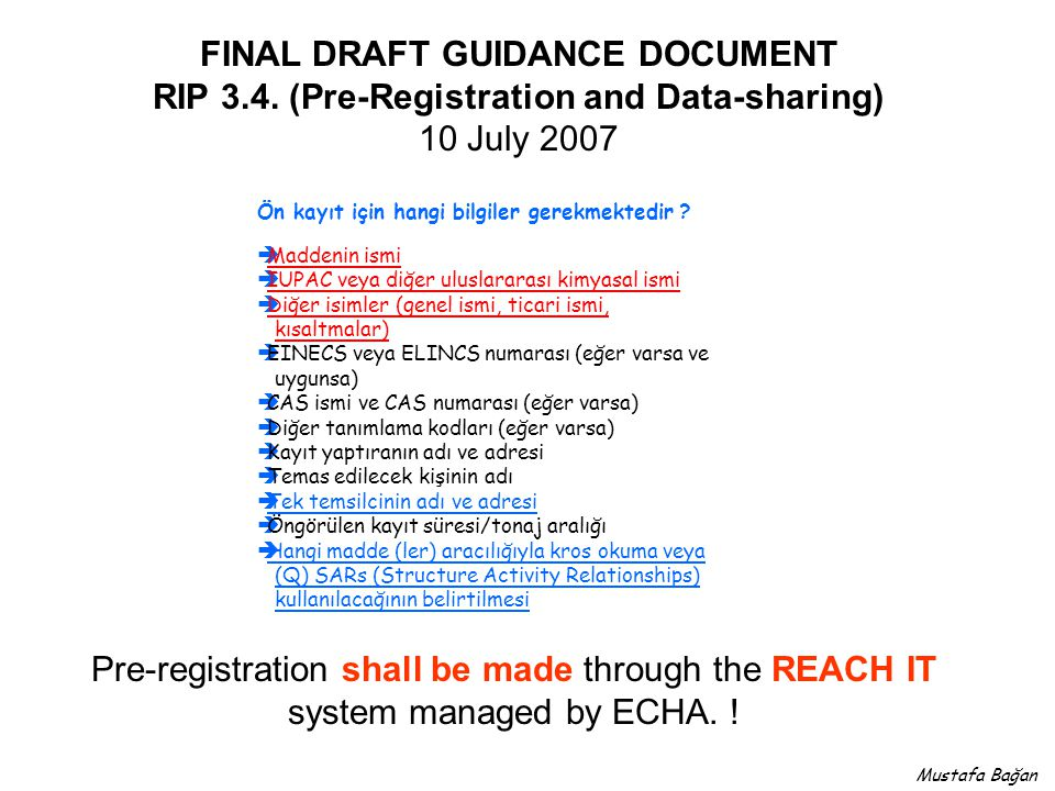 FINAL DRAFT GUIDANCE DOCUMENT