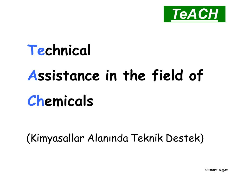 Assistance in the field of Chemicals