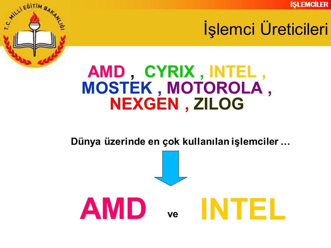 AMD , CYRIX , INTEL , MOSTEK , MOTOROLA , NEXGEN , ZILOG