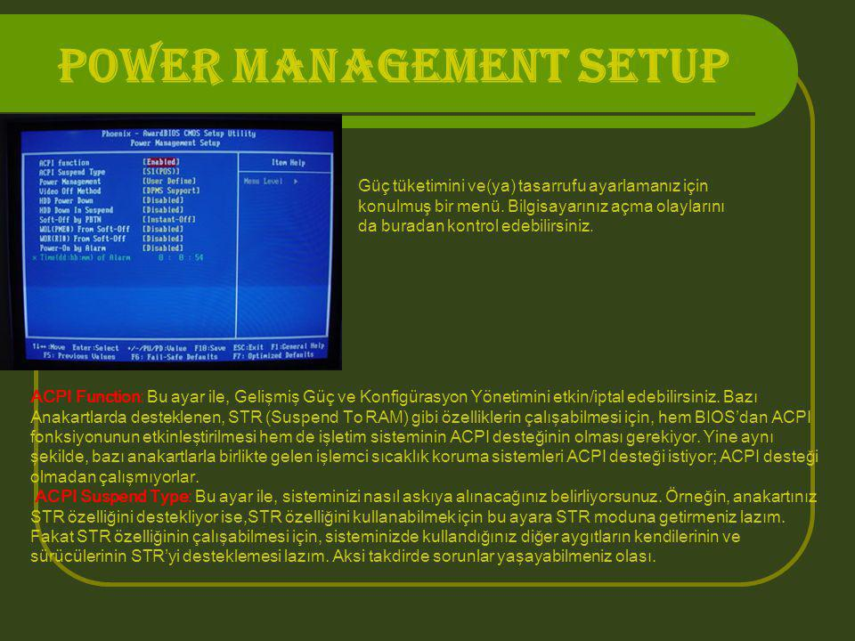POWER MANAGEMENT SETUP