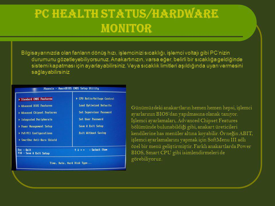 PC HEALTH STATUS/HARDWARE MONITOR