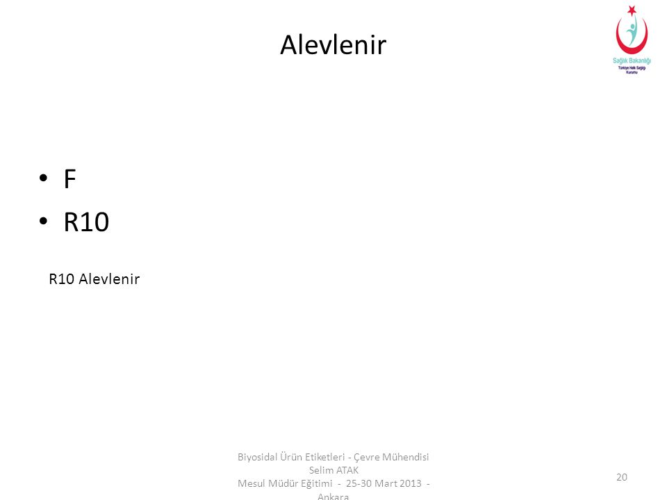 Alevlenir F R10 R10 Alevlenir