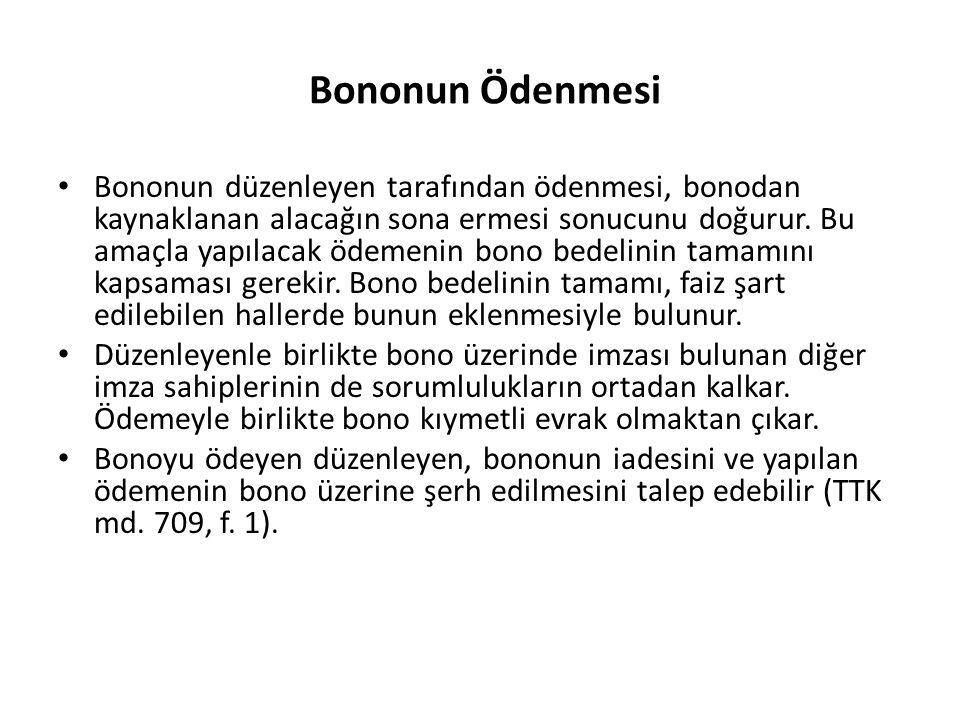 Bononun Ödenmesi