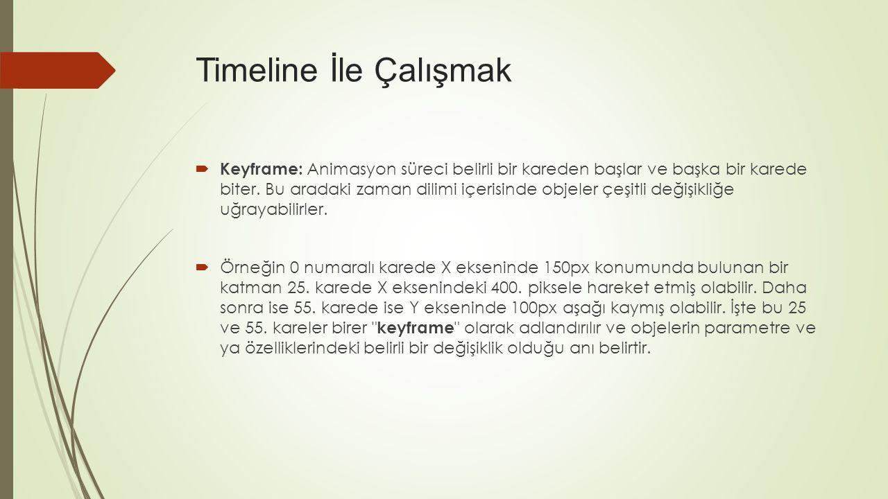 Timeline İle Çalışmak
