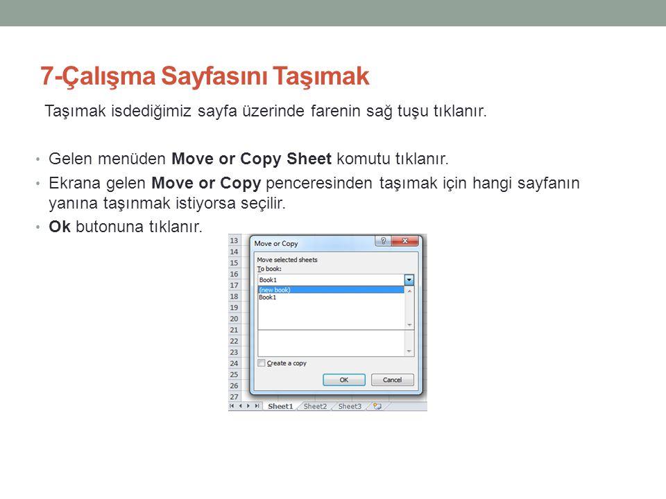 7-Çalışma Sayfasını Taşımak