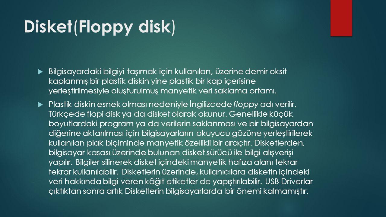 Disket(Floppy disk)