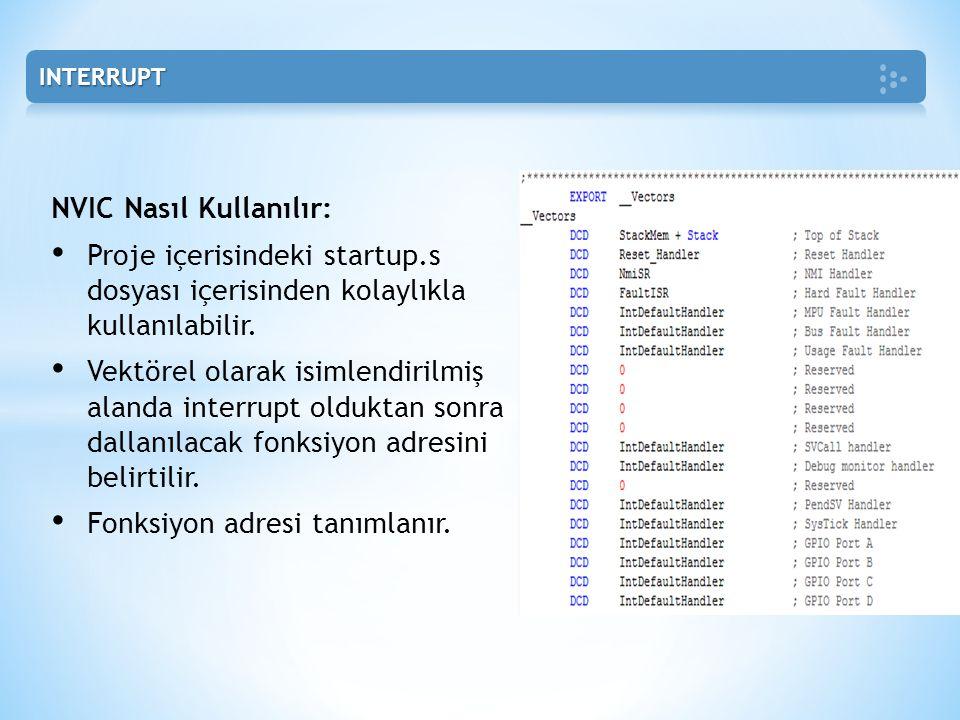NVIC Nasıl Kullanılır: