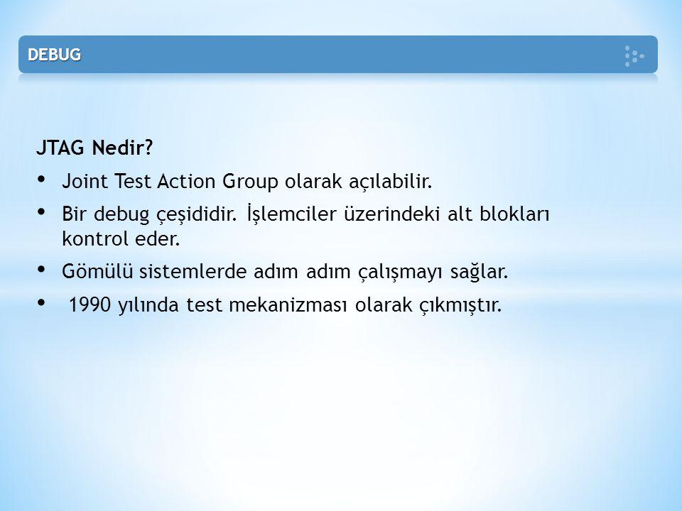 Joint Test Action Group olarak açılabilir.