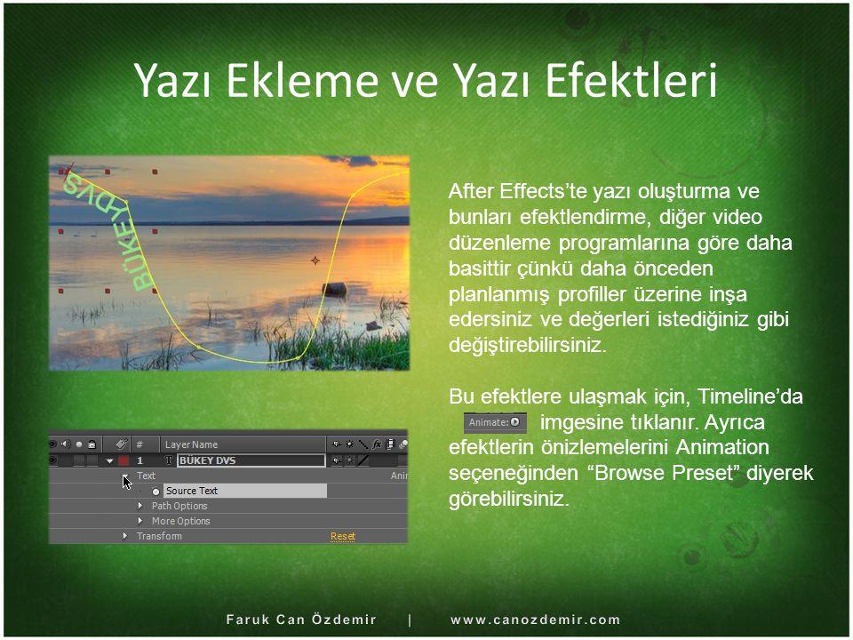 Yazı Ekleme ve Yazı Efektleri
