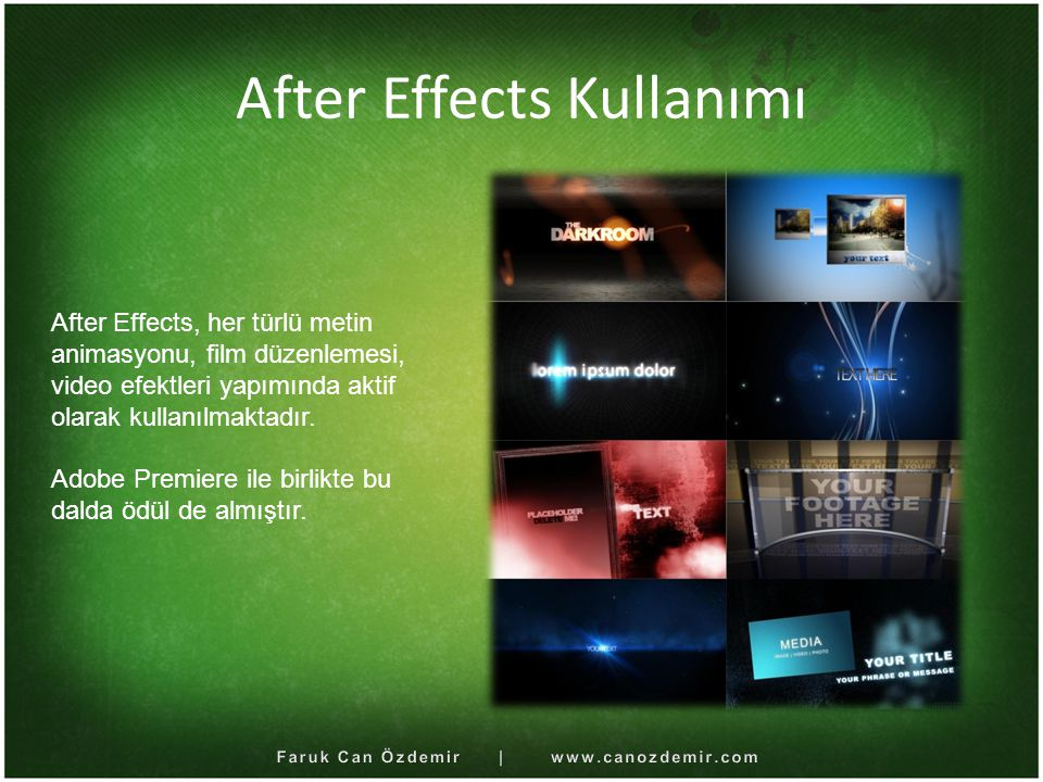 After Effects Kullanımı